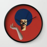 disco Wall Clocks featuring Disco by fabiotir