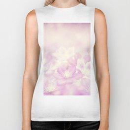 clematis flowers for background, soft focus Biker Tank