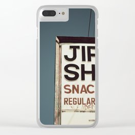 Jiffy Shop Clear iPhone Case