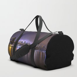 Bright Lights Of New York II Duffle Bag