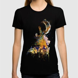 Deer Head Watercolor Silhouette T-shirt