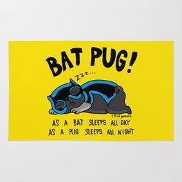 Black Bat Pug! Rug