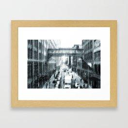 Manhattan old style Framed Art Print