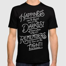 Happiness can be found Mens Fitted Tee MEDIUM Black