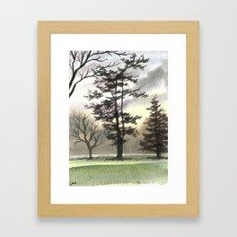 Briars Golf Course, November Framed Art Print