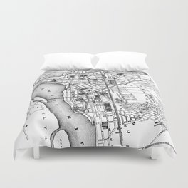 Vintage Map of Trenton NJ (1872) Duvet Cover