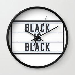 BLACK IS BLACK - Lightbox Wall Clock