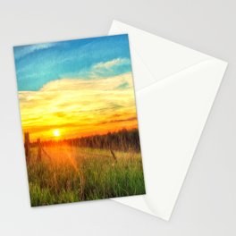Paint Me A Sunset  Stationery Cards