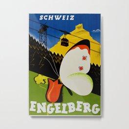 Vintage Engelberg Switzerland Travel Metal Print