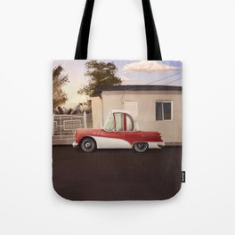 The Cuban Kingpin - Vintage car in the streets of Cuba Tote Bag