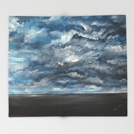 The Sun is Coming (Lista) by Gerlinde Throw Blanket