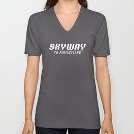 Skyway To Fantasyland  Unisex V-Neck