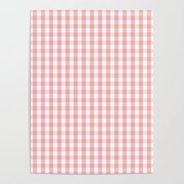 Large Lush Blush Pink and White Gingham Check Poster