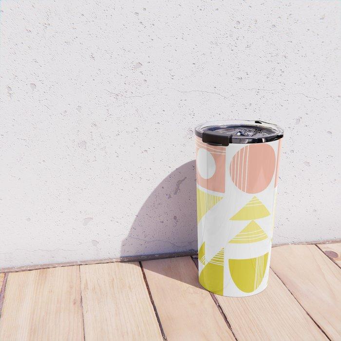 Organic Abstract Shapes in Soft Pastel Colors Travel Mug
