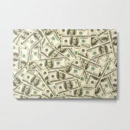 100 dollar bills Metal Print