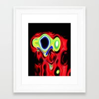 elmo Framed Art Prints featuring Stoned Elmo by otorography