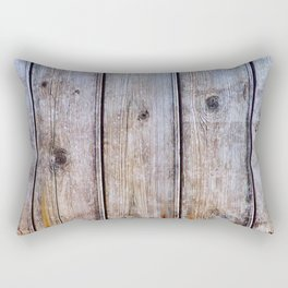 Old Fence Planks With Rust, Wood Decor Rectangular Pillow