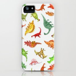 Dinosaur Party Pattern iPhone Case