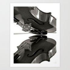 MIRROR VIOLA Art Print