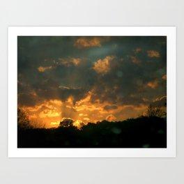 Cloud Interference  Art Print