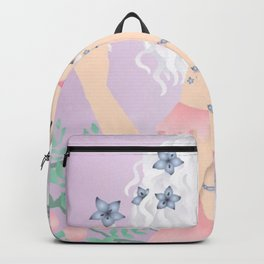 Pretty Floral Girl Backpack