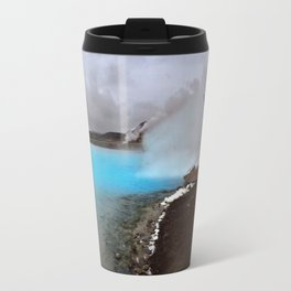 Geothermal Pool in the Mývatn Area of Northeast Iceland Travel Mug
