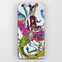 siren iPhone & iPod Skins featuring Siren by Labartwurx