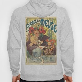 Alfons Mucha Art Nouveau Beer Ad Hoody