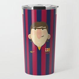 Lionel Messi Barcelona Illustration Print Travel Mug