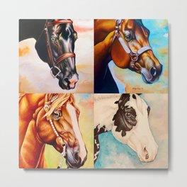 Stock Horses Metal Print