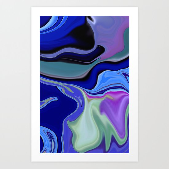 SMPHONY IN BLUE Art Print
