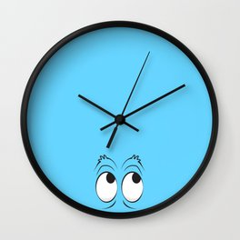 Monster Eyes Blue Wall Clock