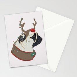 Pug Christmas Stationery Cards
