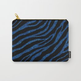 Ripped SpaceTime Stripes - Glitter Blue Carry-All Pouch