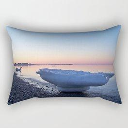 Icebergs on the Beach Rectangular Pillow