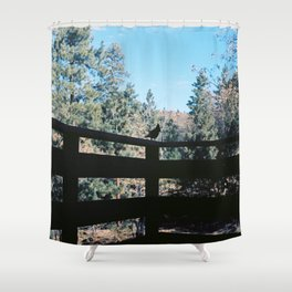 Mr. Blue Jay Shower Curtain