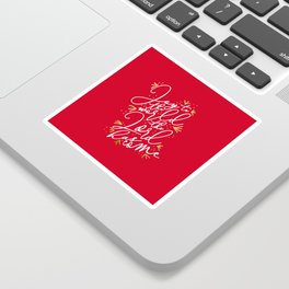 Joy to the World (Red) - Holiday Sticker