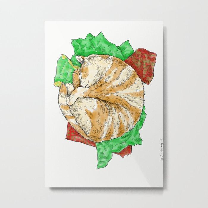Yule Cat Metal Print