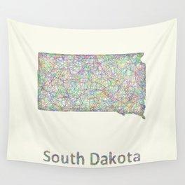 South Dakota map Wall Tapestry