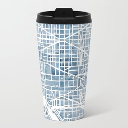 Washington DC Blueprint watercolor map Travel Mug