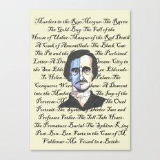 Poe Titles Canvas Print