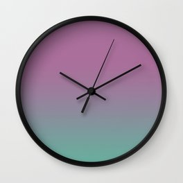 Pink lavender turquoise gradient pattern Wall Clock