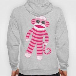 Pink Polka Dot Sock Monkey Hoody