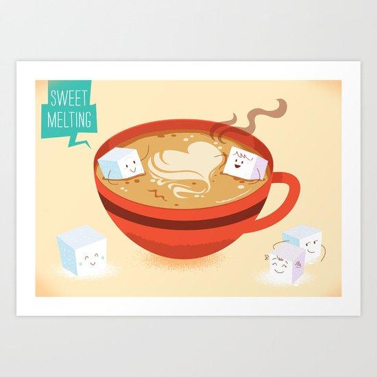 :::Sweet Melting::: Art Print