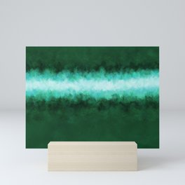 Green Forest Abstract Mini Art Print