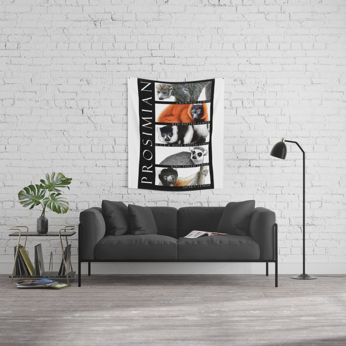 Lemurs of Madagascar Wall Tapestry