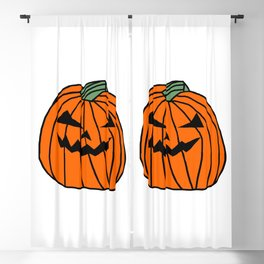 Spooky Halloween Pumpkin Blackout Curtain
