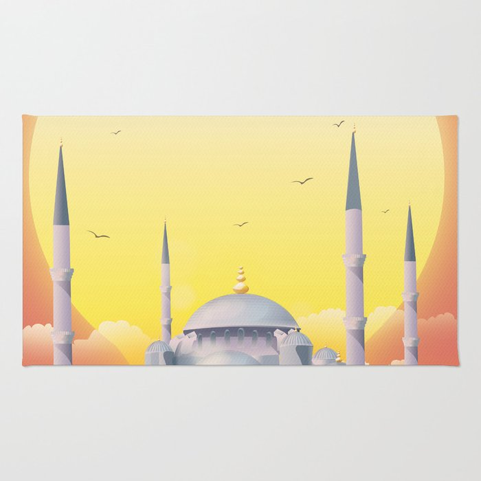 Mosque under the sun Rug