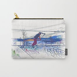 Spinning the Deck - Trick Scooter Sports Art Carry-All Pouch