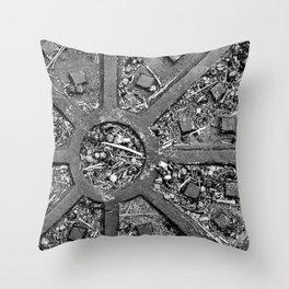 High Contrast Manhole Cover Throw Pillow
